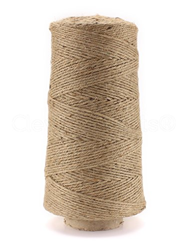 3 Hemp Ply (CleverDelights 1000 Foot Jute Twine - 3 Ply - Heavy Duty - Eco-Friendly Jute String Rope Roll - 1000')