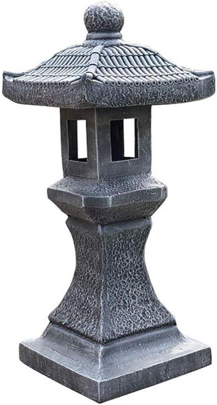 LZYPQY Jardin Sculpture Garden Bougeoir Debout Balise Style Japonais Lanterne Patio Artisanat Cour C/éramique Sculpture D/écorative Jardin Ornement 2