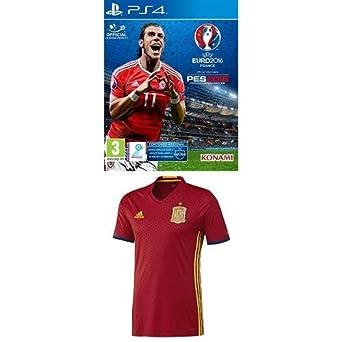 Pro Evolution Soccer (PES) UEFA Euro France 2016 + 1ª Equipación Selección Española de Fútbol Euro 2016 - Camiseta oficial adidas, talla M Authentic: ...