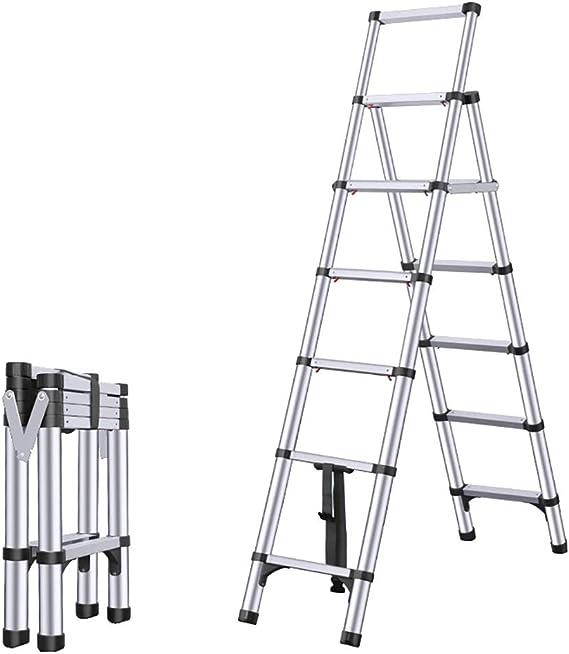 Escalera Telescópica Multiusos De Aluminio Extensión De Escalera Plegable Portátil Escalera Extensible (marco A) regalo (Color : Negro, tamaño : 2M): Amazon.es: Bricolaje y herramientas