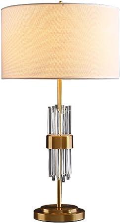 &Luz para Leer Lámpara de Mesa, Encuadre de Cobre de Cristal lámpara de cabecera de la