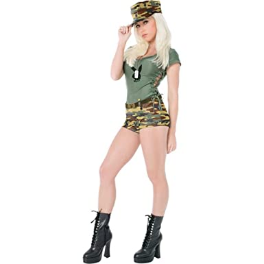 sexy playboy army girl halloween costume size small 6 8 - Halloween Costumes Playboy
