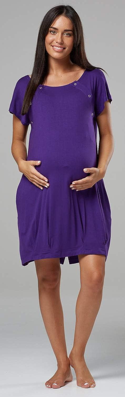 HAPPY MAMA Para Mujer Camis/ón para el Parto Hospital Premam/á Lactancia 097p