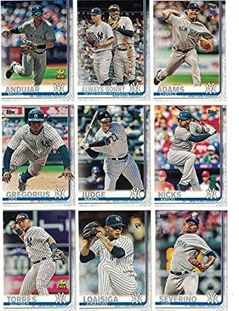 designer fashion 098ab 58e1b New York Yankees/Complete 2019 Topps Series 1 Baseball Team ...