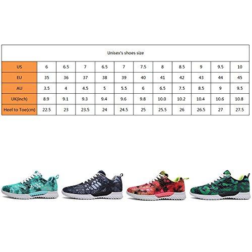 Sfit Homme Chaussures de Sport Course Running Baskets Respirantes Fuschia XEb7NYKf0
