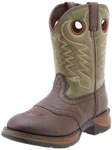 Dark Brown Forest Green - Durango Kids BT306 Lil' 8 Inch Saddle,Dark Brown/Forest Green,5.5 M US Big Kid