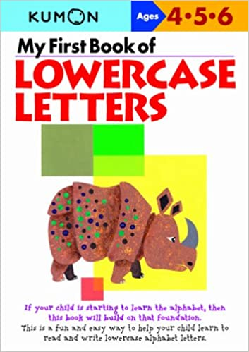 My First Book of Lowercase Letters: Kumon: 0004774307068: Amazon ...
