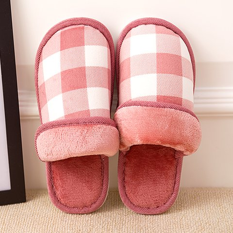 LaxBa Femmes Hommes chauds dhiver Chaussons peluche antiglisse intérieur Cotton-Padded ShoesJujube Slipper40-70 (39-40 pieds)
