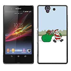 YOYO Slim PC / Aluminium Case Cover Armor Shell Portection //Christmas Holiday Santa Gift Bag 1238 //Sony Xperia Z L36H