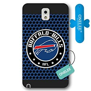 Onelee Customized NFL Series Case for Samsung Galaxy Note 3, NFL Team Buffalo Bills Logo Samsung Galaxy Note 3 Case, Only Fit for Samsung Galaxy Note 3 (Black Frosted Shell)