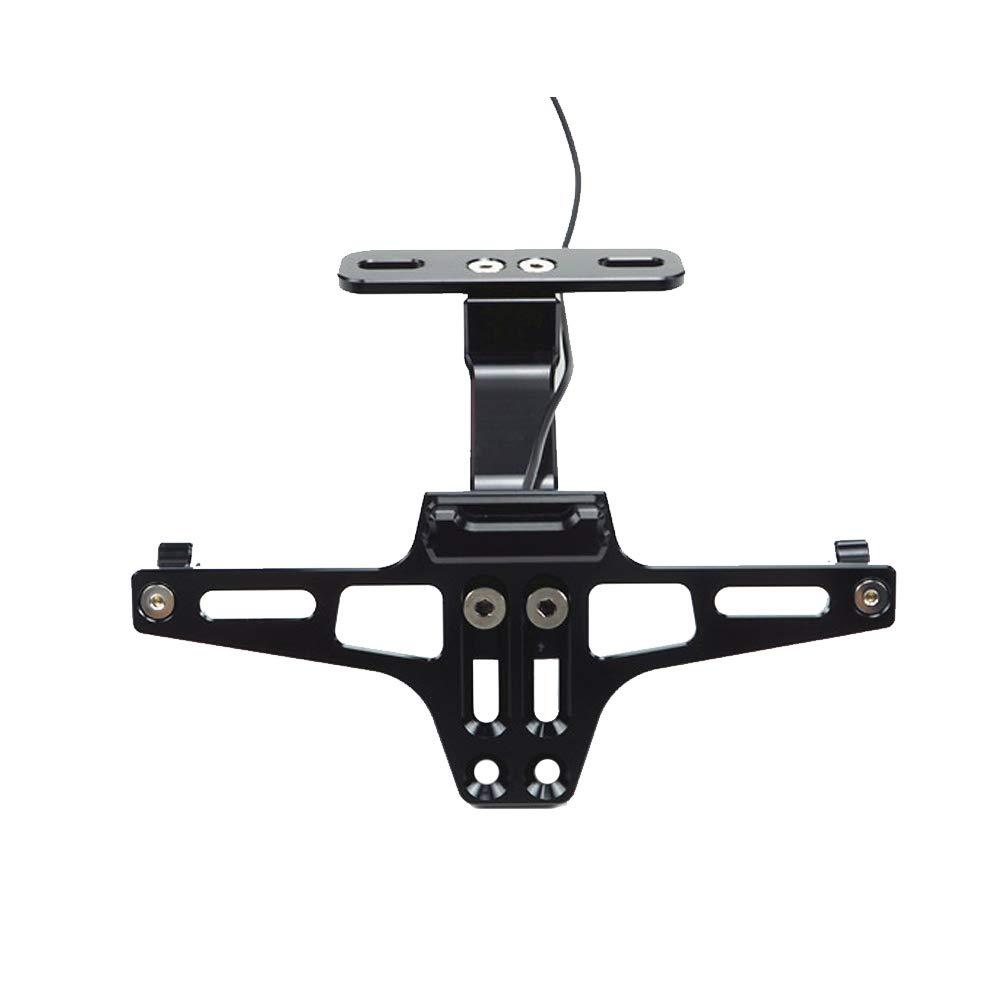YOUNICER Accesorios de la Motocicleta Soporte de la Placa de matr/ícula del Soporte Universal de la Placa de matr/ícula de la Moto