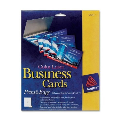 Wholesale CASE of 15 - Avery Color Laser Business Cards-Business Cards,F/ Color Laser Printer,160/PK,2