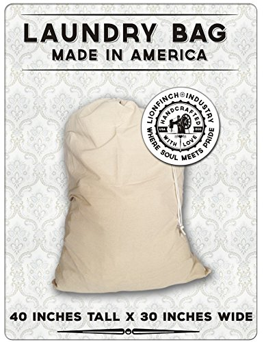 LionFinch Laundry Bag or Laundry Hamper - Proudly Made in America. Heavy Duty and Oversized. Holds up to 150 Pounds of Laundry. Fits All Hampers. Proudly Made in America