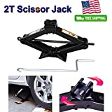 Steel Compact Scissor Jack Lift for Car Wheel Home Emergency, 2 Ton Load - Best Reviews Guide