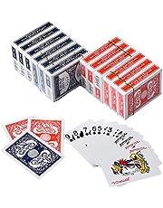 CAROSE Playing Cards Jumbo Index Large Print Decks of Cards Poker Size for Texas Hold'em Blackjack Cards Games