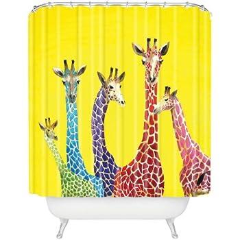 Superb Deny Designs Clara Nilles Jellybean Giraffes Shower Curtain, ...