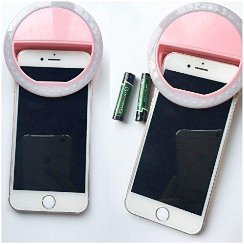 Leadpo Selfie Light Ring 36 LED for iPhone Samsung, Motorola and Other Smart Phones, 3/4-Level Brightness LED Clip On for All Smartphones/ Tablets, Great for Applying Make Up (3-Level White)