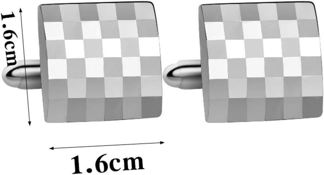 Silver Mens Business Classic Cufflinks Unique Cufflink Set Cufflinks