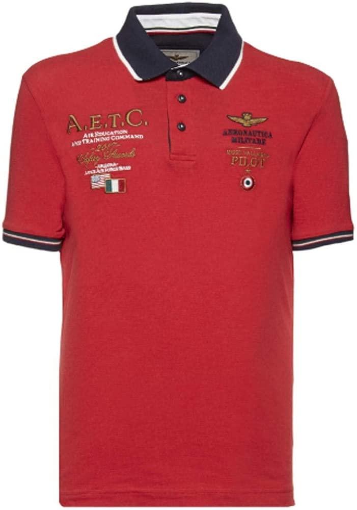 Polo Aeronautica Militare Rojo L Rojo: Amazon.es: Ropa y accesorios