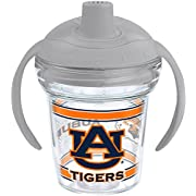 Tervis 1177824 Auburn Tigers Tumbler with Wrap and Moondust Gray Lid 6oz My First Tervis Sippy Cup, Clear