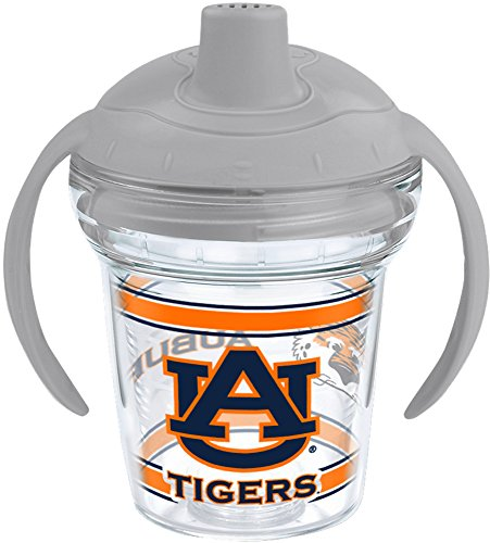 Tervis 1177824 Auburn Tigers Tumbler with Wrap and Moondust Gray Lid 6oz My First Tervis Sippy Cup, Clear - - Au Auburn University Tigers