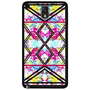 Colorful Floral and Black Tribal Print Pattern Hard Snap on Phone Case (Note 3 III)