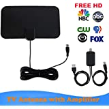 HD Digital TV Antenna, Long 50 Miles Range – Support 4K 1080p & All Older