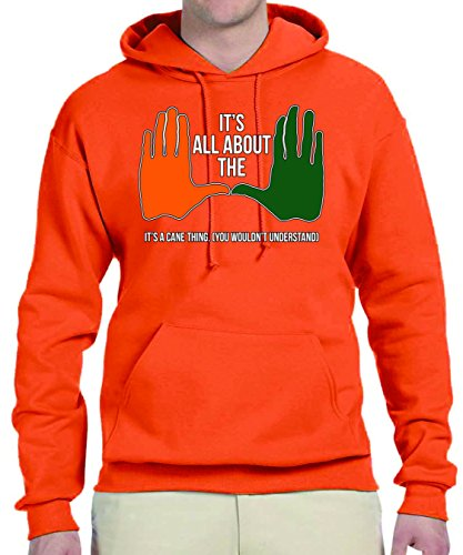 "Price comparison product image U of M Custom Fleece Hoodie - All About the ""U"", It's A Cane Thing - 3X Large Light Orange"