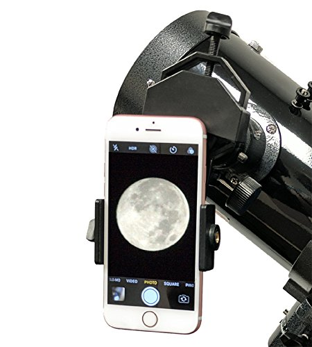 TwinStar Blue 6'' iOptron Computer Controlled Reflector Telescope With Universal Smartphone Camera Adapter