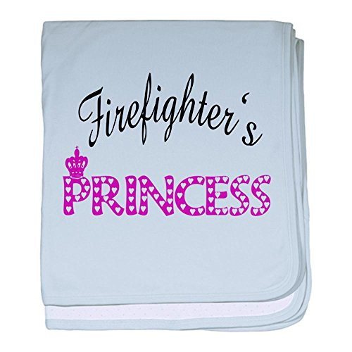 CafePress - Firefighters's Princess baby blanket - Baby Blanket, Super Soft Newborn Swaddle