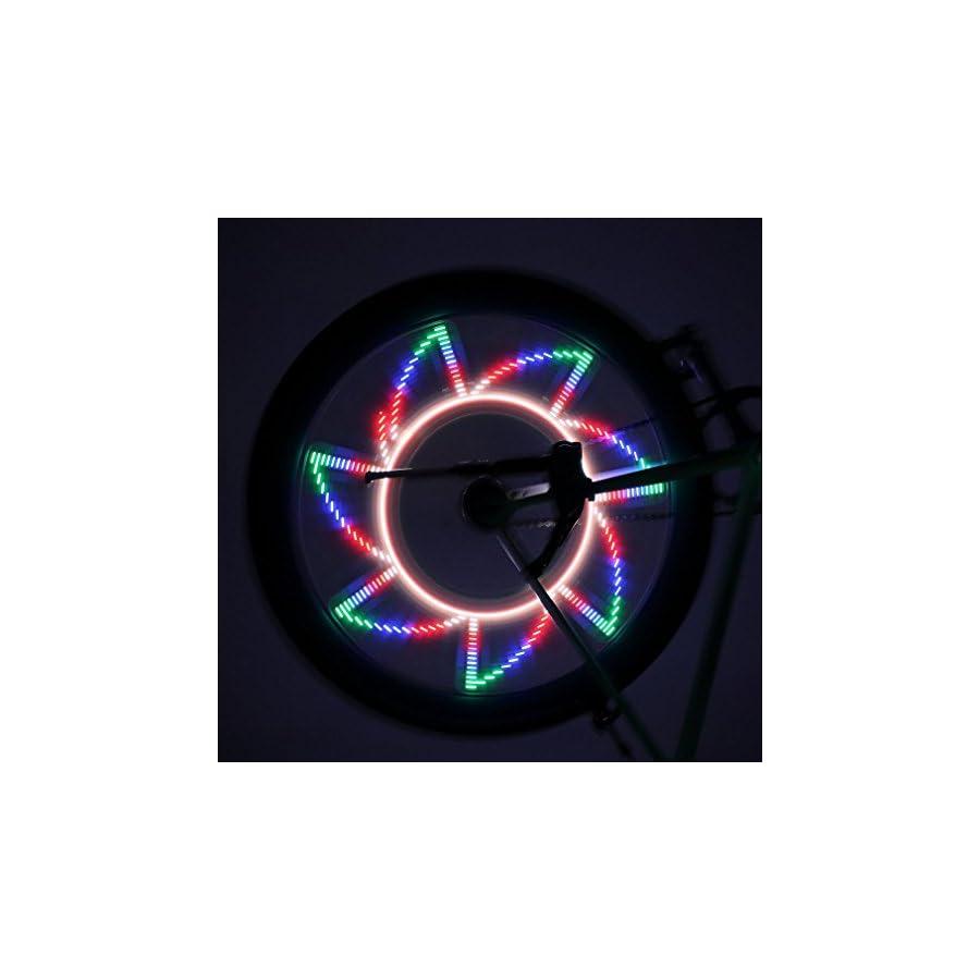 Bicycle Rim Lights Auto Open and Close Ultra Bright LED Goldlion66 32 LED Bike Wheel Light, Bike Spoke Light, Light String for MTB Wheel Tire