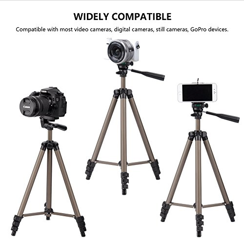 Eocean 50-inch Tripod, Cellphone Tripod, Lightweight Aluminum Tripod, Tripod Video Tripod Cellphone,Camera, Wireless Remote + Cellphone Holder Mount All Smart Cell Phone, Most Camera by Eocean (Image #6)
