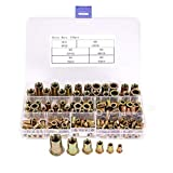 Sumnacon Assortment Rivet Nut Nutsert Fasteners Zinc Plated Carbon Steel, 150 Pcs Threaded Insert Nutsert M3 4 5 6 8 10