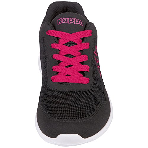 Kappa Unisex Adults' Apollo Trainers Black (1122 Black/Pink) eZgzRw