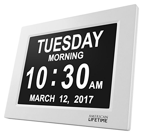[Newest Version] Day Clock - Extra Large Impaired Vision Digital Clock with Battery Backup & 5 Alarm Options (5 Function Digital Clock)