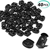 Black 20 PCS Plastic Cord Locks /& Elastic Bungee Nylon Shock Cord 5//32 50 ft Lengths DaKuan 10 PCS Sing-Hole End Spring Toggle Stopper Slider with Crafting Stretch String 10 PCS Double-Hole