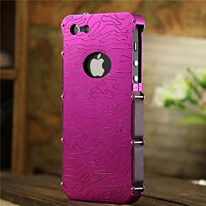 DAYJOY Luxury Aluminum Alloy Protective Metal Bumper Shell Case Cover for APPLE IPHONE5 5S(ROSE RED)