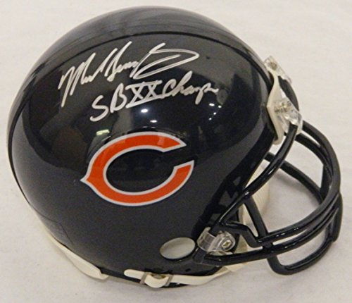 Helmet Champs Riddell Mini (Mike Singletary Signed Chicago Bears Riddell Replica Mini Helmet w/SB XX Champs)