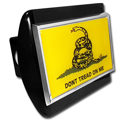 (Elektroplate Don't Tread on Me Flag Black Metal Hitch Cover)