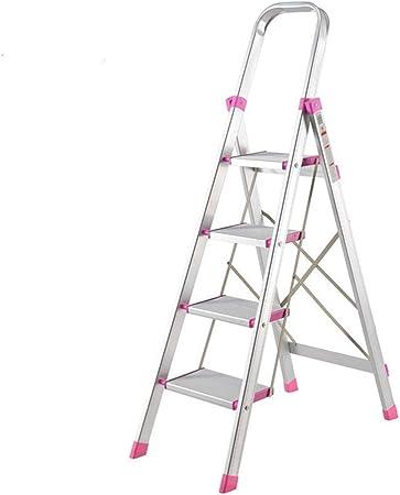 Escalera de cuatro pasos de la aleación de aluminio, escalera de mano plegable plegable de la