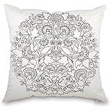 Amazon.com: Doodle World Map Pillowcase, Color Your Own Pillow ...
