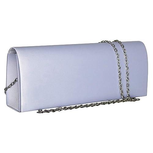ede85d17fc Chapeau-tendance - Pochette de soirée blanche - - Femme: Amazon.fr ...