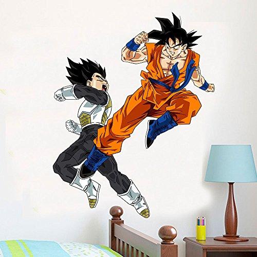 Adesivo de Parede Dragon Ball Goku e Vegeta 2 - Pequeno 35x45cm