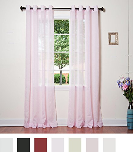 "Best Home Fashion White Crushed Voile Sheer Grommet Top Curtain 84"" L - Decorate every window with style and sophistication. Allows natural light to flow through the room Have pocket insert that create a clean, tailored look on a decorative rod. - living-room-soft-furnishings, living-room, draperies-curtains-shades - 51YfI0PiDML -"