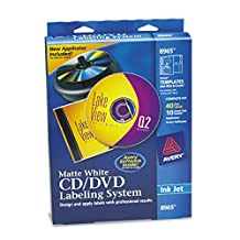 Avery 8965 CD/DVD Design Kit with 40 Matte Labels & 10 Inserts, for Ink Jet Printer