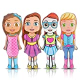 "Cheap ArtCreativity Cutie Inflatable Doll Set (Set of 4) | 36"" Tall Inflatable Toys for Boys and Girls 