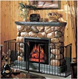 USA Premium Store Fireplace Fence Baby Safety Fence Hearth Gate BBQ Metal Fire Gate Pet Dog Cat