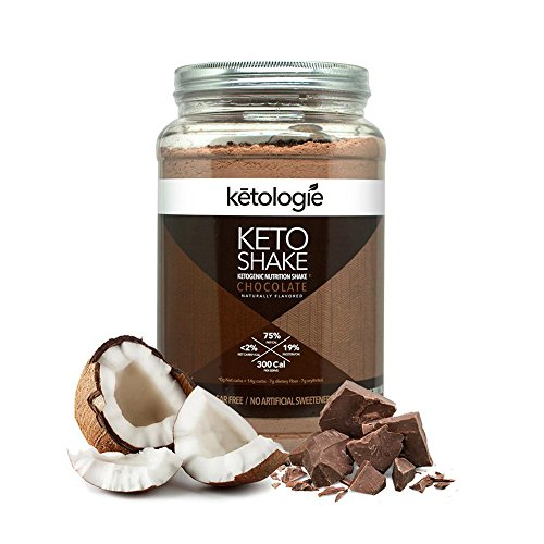 Ketologie® Chocolate Keto Protein Shake | Best Ketogenic Nutritional Shake | Low Carb High Fat (LCHF) Keto Shake | Helps Burns Fat, Increases Energy & Kickstarts Ketosis