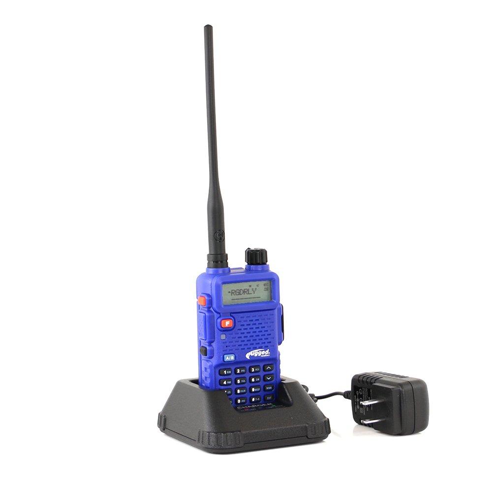 Rugged Radios RH5R 5 Watt Dual Band Handheld Radio Kit Ducky Antenna Mounting Bracket Radio Jumper Cable