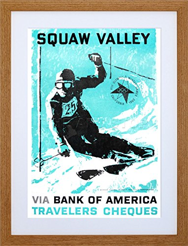 Sport AD 1960 Winter Olympic Games Squaw Valley SKI Frame Print Picture F12X1079